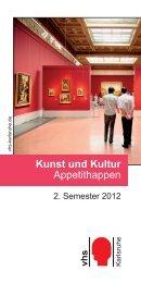 Kunst und Kultur Appetithappen - vhs Karlsruhe