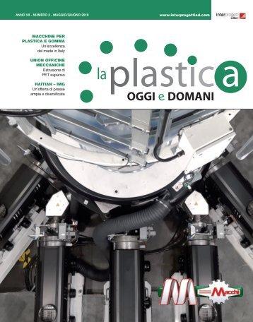 La plastica oggi e domani 2 Maggio e Giugno 2018