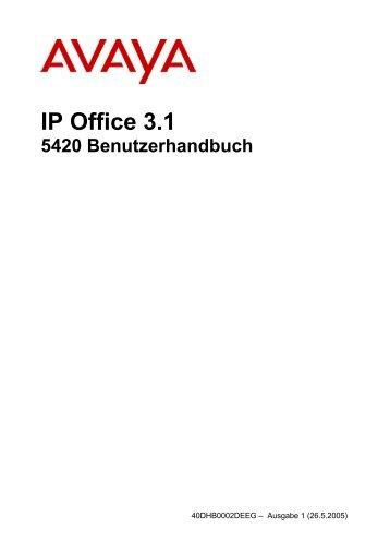 1616 Benutzerhandbuch Avaya Bedienungsanleitungen