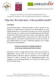 Ulige løn: Hvordan løser vi den gordiske knude? - Kvinderådet