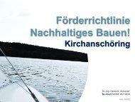 Förderrichtlinie Nachhaltiges Bauen  in Kirchanschöring