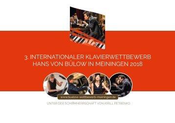 3. Internationaler Hans-von-Bülow Klavierwettbewerb 2018 in Meiningen