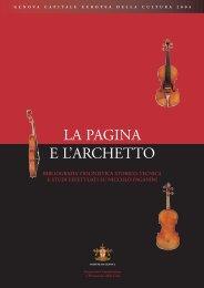 LA PAGINA E L'ARCHETTO - Paganini - Comune di Genova