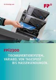 FPi 2300 TischKuverTiersysTem. - Francotyp Postalia