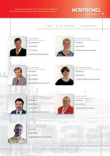distribute it IHRDIREKTERKONTAKT - G. Hentschel Vertriebs GmbH ...