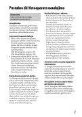 Sony ILCE-7M2K - ILCE-7M2K Mode d'emploi Lituanien - Page 7