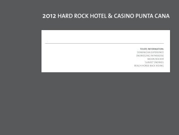 2012 HARD ROCK HOTEL & CASINO PUNTA CANA