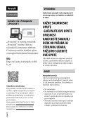 Sony ILCE-7M2K - ILCE-7M2K Mode d'emploi Croate - Page 2