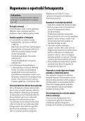 Sony ILCE-7M2K - ILCE-7M2K Mode d'emploi Croate - Page 7