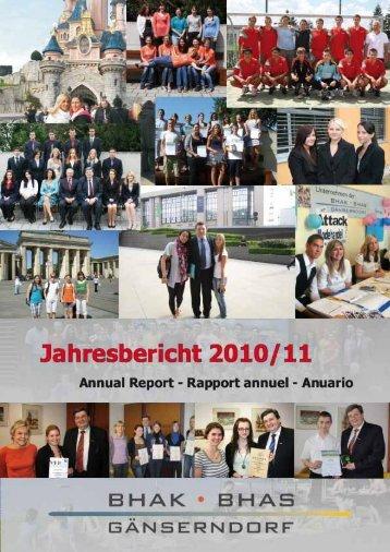 präsentationen der projektarbeiten - BHAK BHAS Gänserndorf