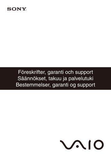 Sony VPCL11S1E - VPCL11S1E Documents de garantie Suédois