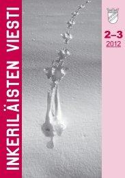 2-3/2012 - Suomen Inkeri-liitto ry