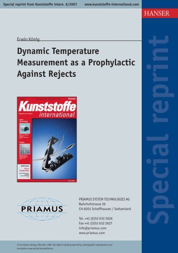 Dynamic Temperature Measurement as a Prophylactic ... - Priamus