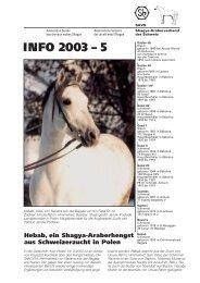 INFO 2003 – 5 - Shagya-Online