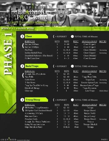 Joshua - Workout Program (Side 1)