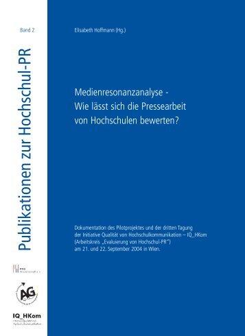 Publikationen zur Hochschul-PR - Bundesverband ...