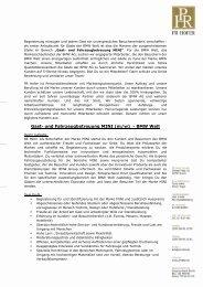 Gast- und Fahrzeugbetreuung MINI (m/w) - BMW Welt - PR Hofer