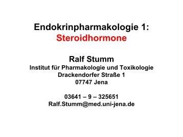 Endokrinpharmakologie I - Institut für Pharmakologie und Toxikologie