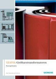 GEAFOL-Gießharztransformatoren: Planungshinweise - Siemens