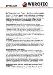 Bericht eines Anwenders - Die WURZELRATTE
