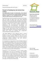 Resopal ist Produktpartner des Sentinel-Haus Instituts