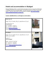 Hotels and accommodation in Stuttgart - The Greens