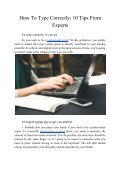 How to Type Correctly: 10 Tips From Experts - Page 2