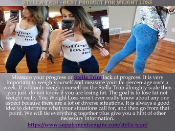 Stella Trim - Best product for weight loss