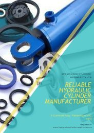 Choosing a Reliable Hydraulic Cylinder Manufacturer Makes a Difference