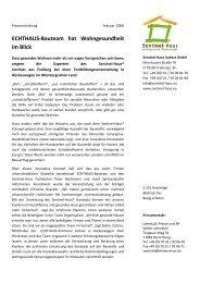 ECHTHAUS-Bauteam hat Wohngesundheit im Blick - Sentinel Haus ...