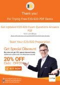 E20-920 Dumps - Get Actual EMC E20-920 Exam Questions with Verified Answers | 2018 - Page 7