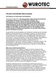 WUROTEC-Fachhändler-Netz komplett - Die WURZELRATTE