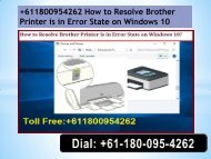 +611800954262 How to Resolve Brother Printer is in Error State on Windows 10