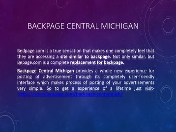 Backpage Centralmichigan A Better Choice As Backpage Replacement