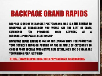 Backpage Grandrapids A Site Similar To Backpage