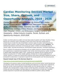 Cardiac Monitoring Devices Market Opportunity Analysis, 2018-2026