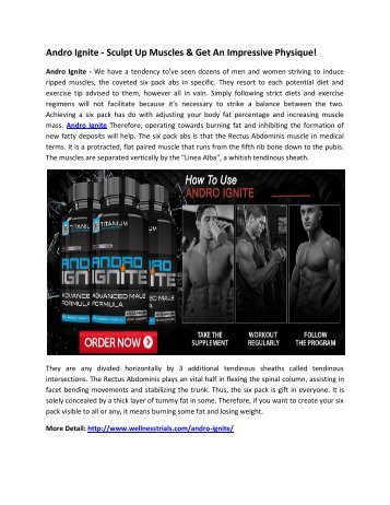 Andro Ignite - To Get A Strong And Muscular Body!