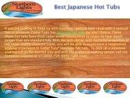 Best Japanese Hot Tubs