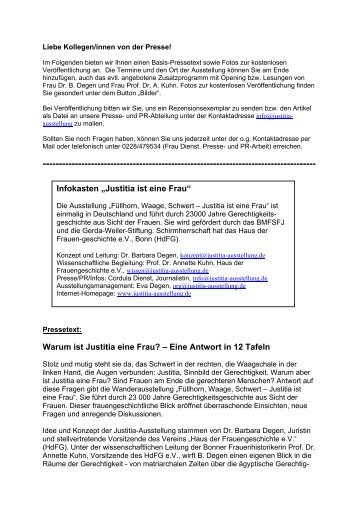 Pressetext - justitia-ausstellung