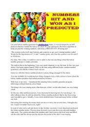 MAKE MONEY WITH THIS POWERFUL LOTTERY NUMBER GENERATOR THAT MADE DAN $3,287!