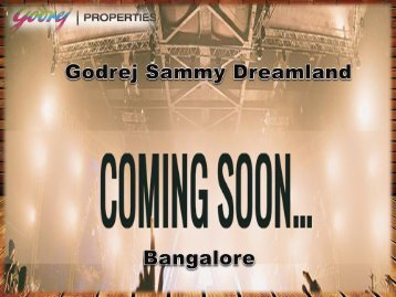Godrej Sammy Dreamland Offers Luxury 2 & 3 BHK in Bangalore