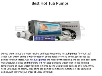 Best Hot Tub Pumps