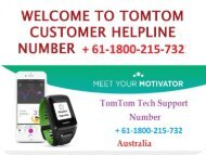 Tomtom map updates support number Australia + 61-1800-215-732
