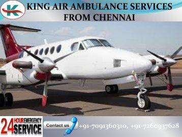 Hi-Tech Equipment King Air Ambulance Services in Chennai