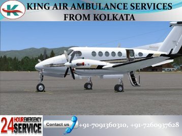 24x7 Advanced King Air Ambulance Services in Kolkata