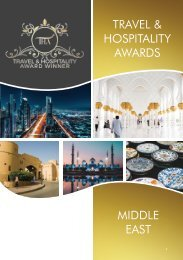 Travel & Hospitality Awards - Middle East Winners 2018