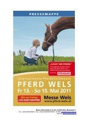 Pressemappe PFERD 2011 - Messe Wels