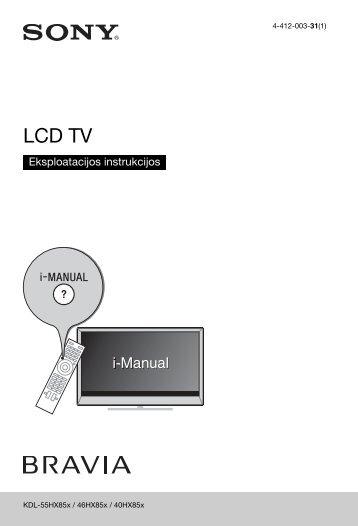 Sony KDL-55HX853 - KDL-55HX853 Mode d'emploi Lituanien