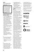 Sony KDL-55HX853 - KDL-55HX853 Mode d'emploi Lituanien - Page 2