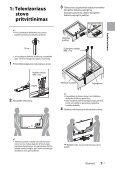 Sony KDL-55HX853 - KDL-55HX853 Mode d'emploi Lituanien - Page 7